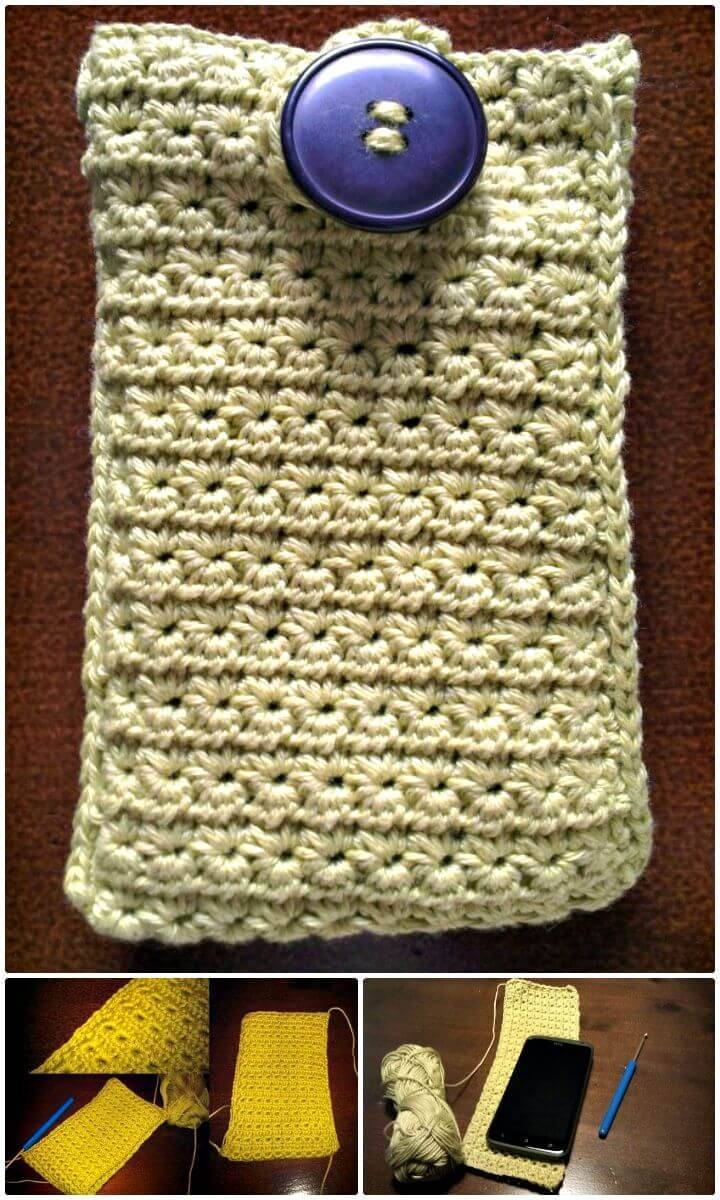 How To Do A Easy Crochet Star Stitch Mobile Case Pattern