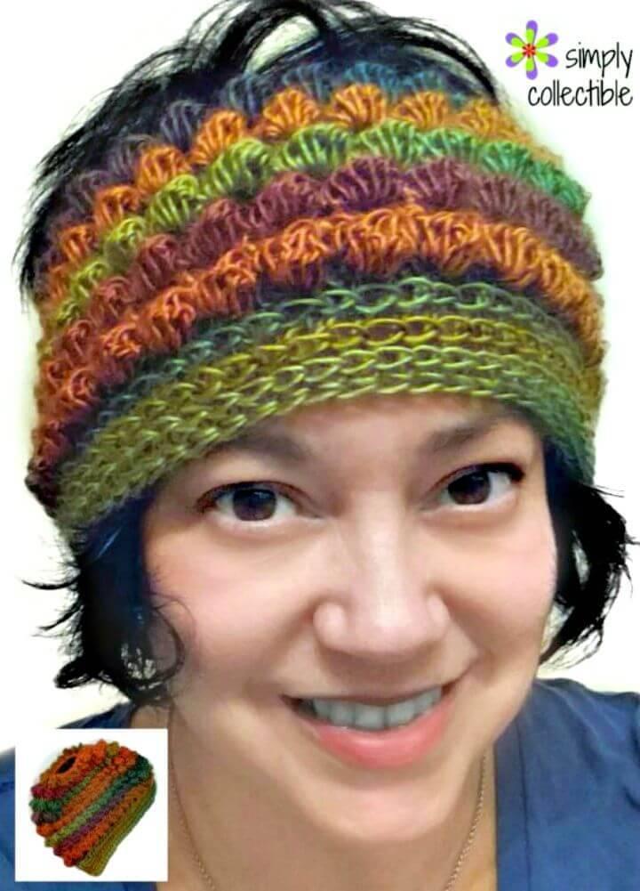 Easy Free Crochet Messy Bun Hat Pattern