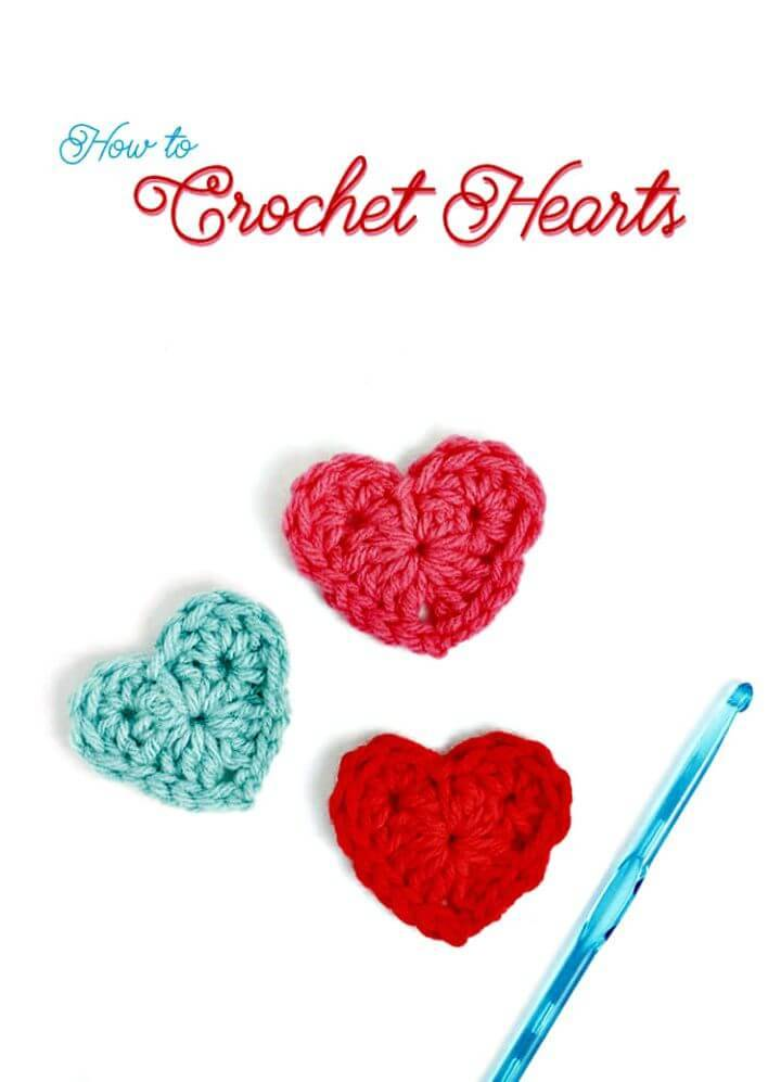 How To Easy Free Crochet A Heart Pattern