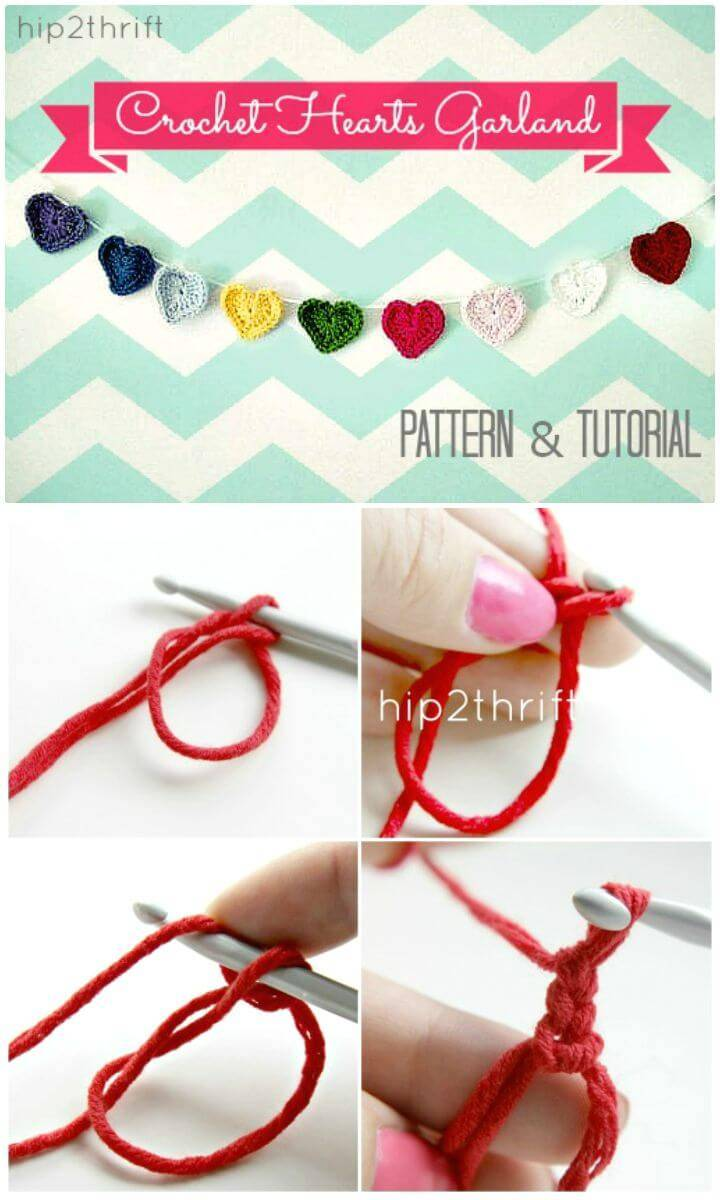Easy Free Crochet A Heart Step By Step Tutorial