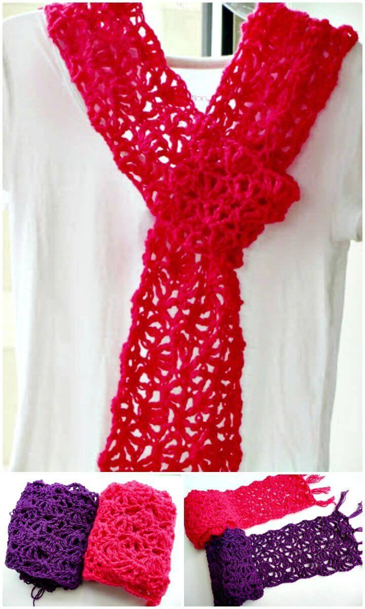 Easy Free Crochet Alana Lacy Scar Pattern