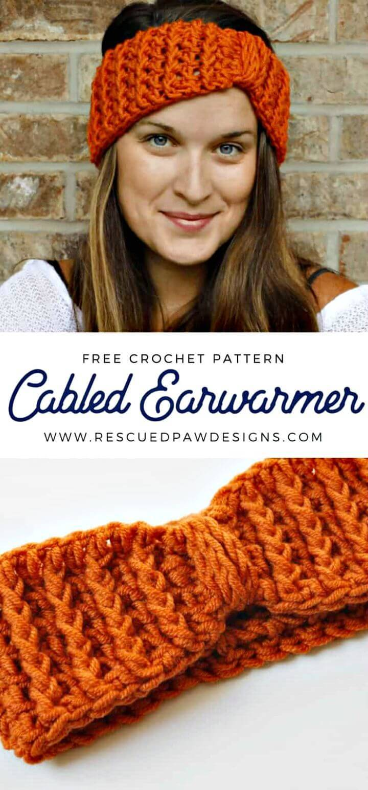 Free Crochet Cabled Ear Warmer Pattern