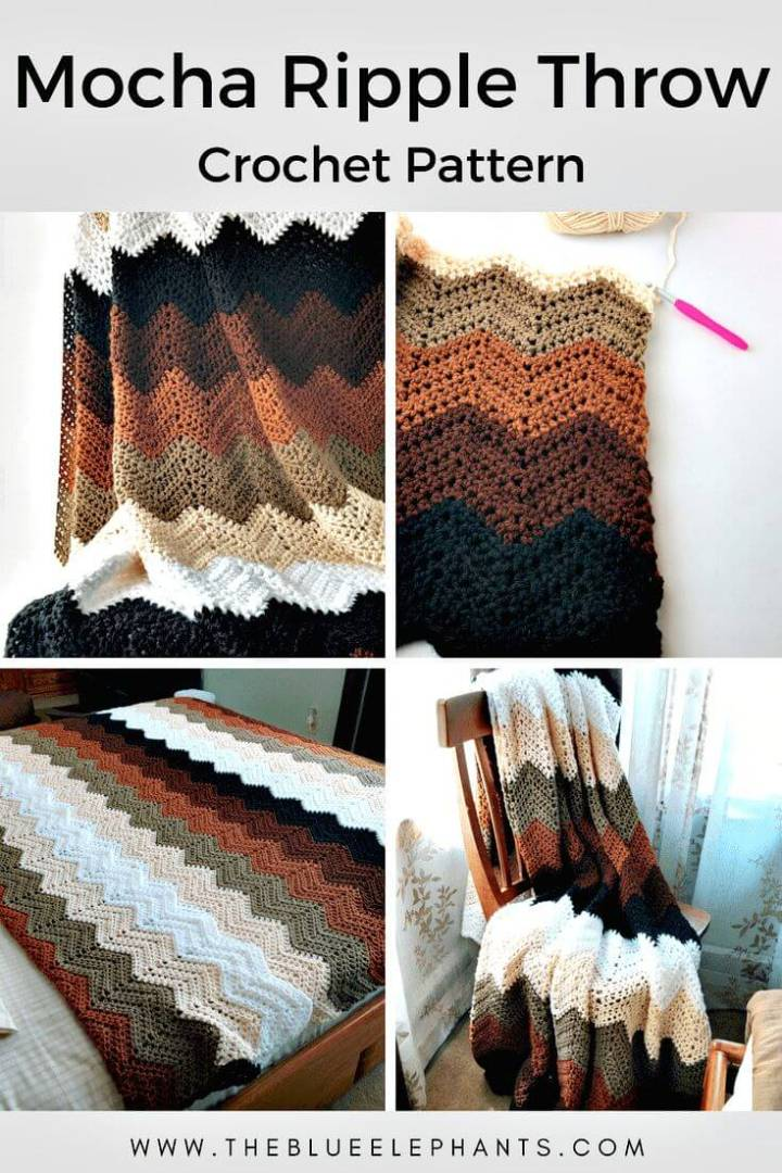 Free Crochet Chevron Throw Pattern