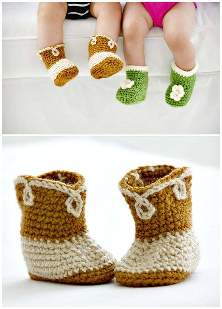 How To Easy Free Crochet Cowboy Booties Pattern