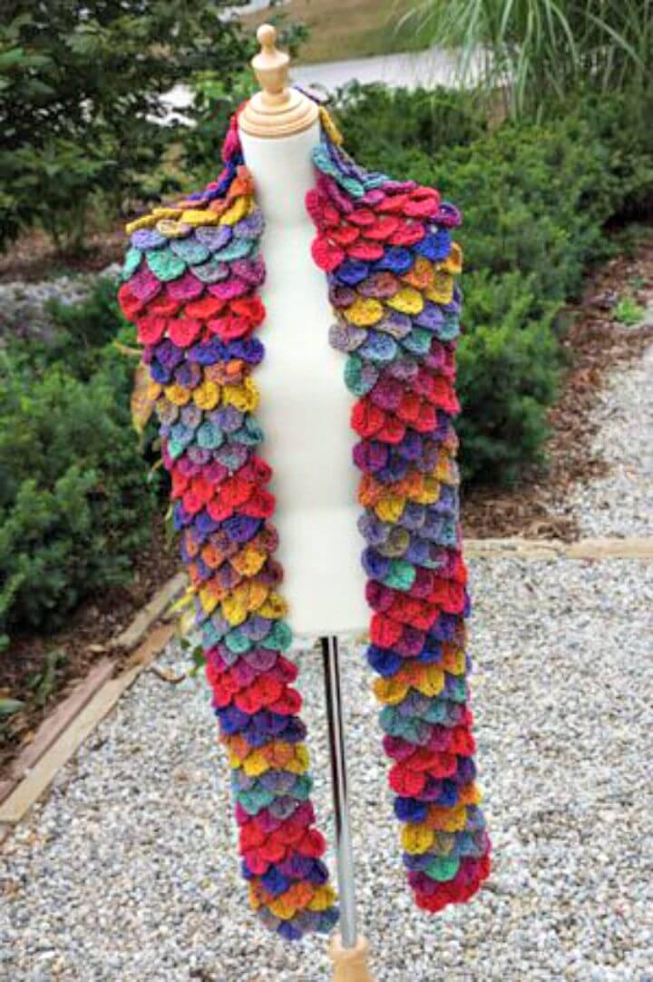 Free Crochet Crocodile Stitch Rio Scarf Pattern