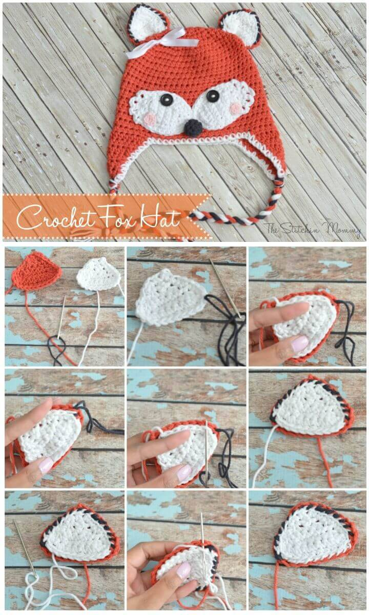 How To Free Crochet Fox Hat Pattern