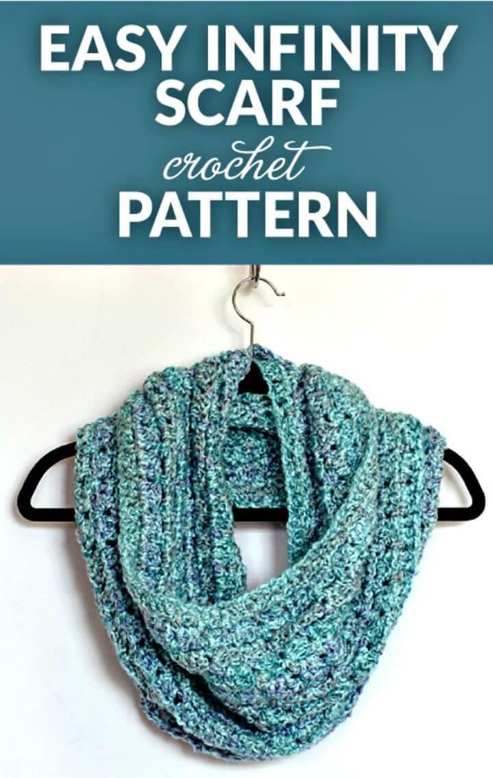 Easy Free Crochet Infinity Scarf Pattern
