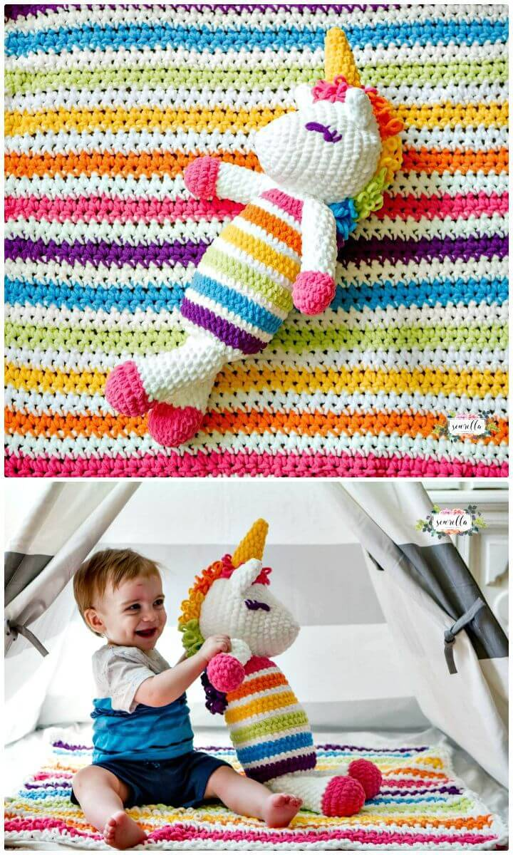 Easy Free Crochet Plushy Unicorn Pattern