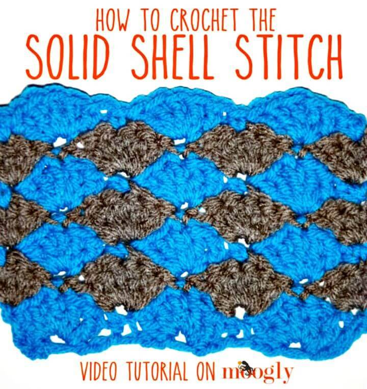 Free Crochet Solid Shell Stitch Pattern
