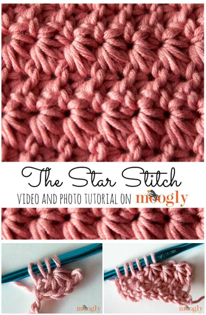 Easy Free Crochet Star Stitch Pattern