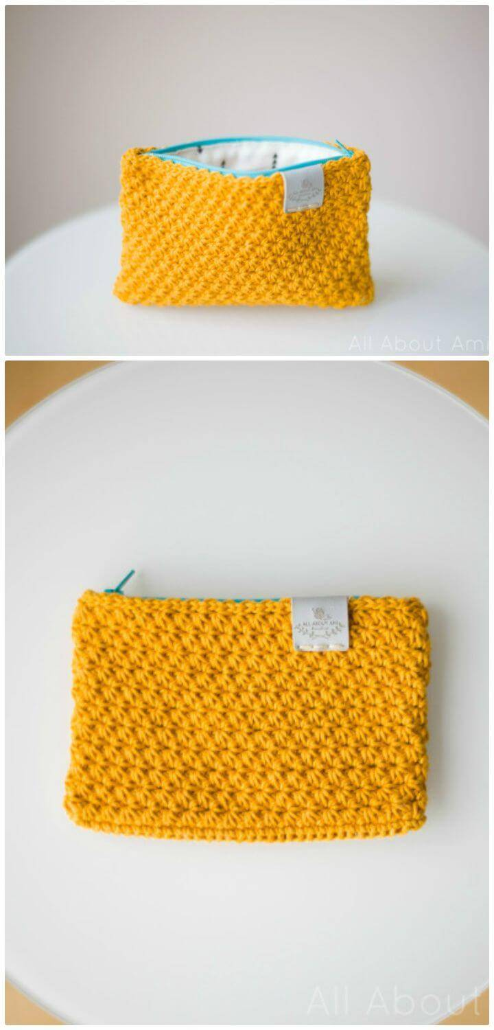 How To Free Crochet Star Stitch Pouches Pattern