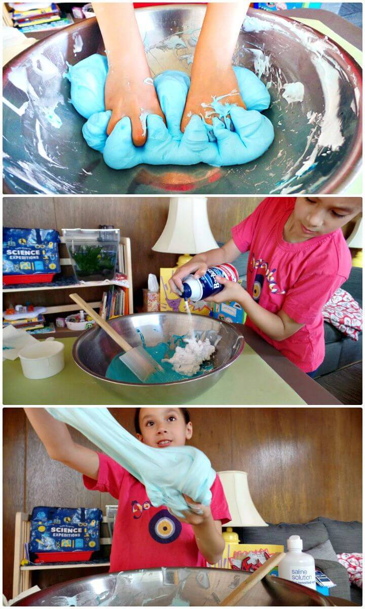 Easy To Make Fluffy Slime With Contact Solution - Free Tutorial