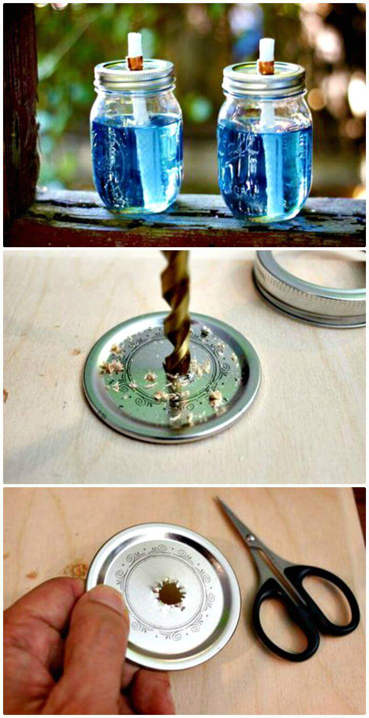 DIY Mason Jar Tiki Torches - Outdoor Lighting Ideas