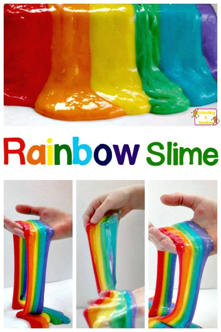 DIY Totally Amazing Rainbow Slime - Free Tutorial