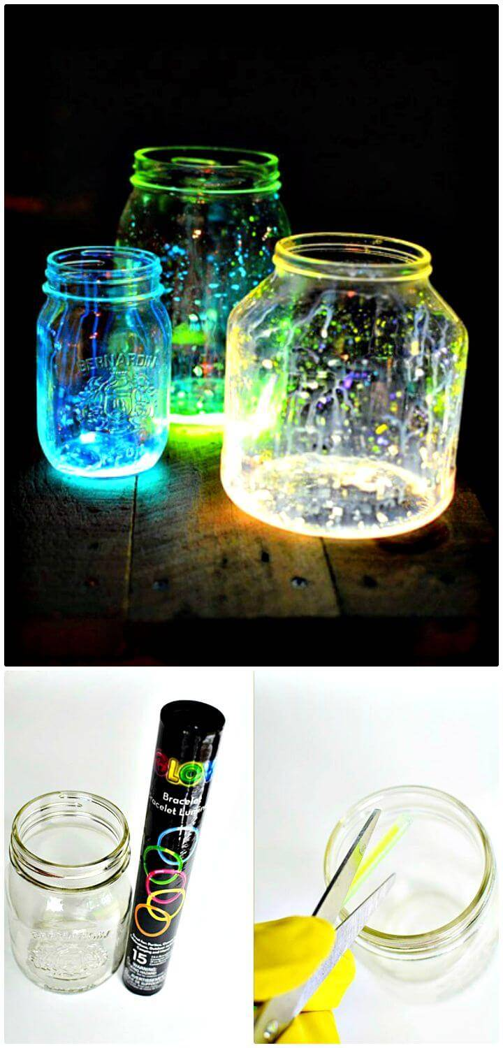 How To Making Glow In The Dark Mason Jars - DIY