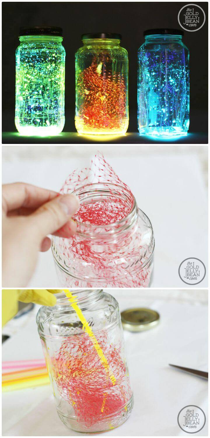 Easy DIY Glow Mason Jars - Mason Jar Crafts
