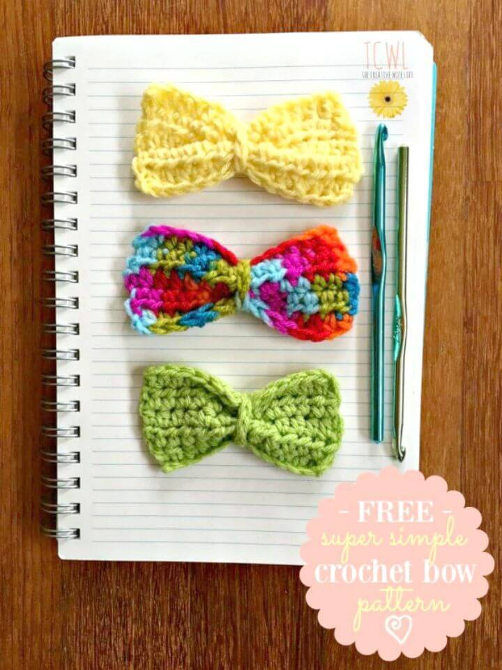 How To Super Simple Free Crochet Bow Pattern