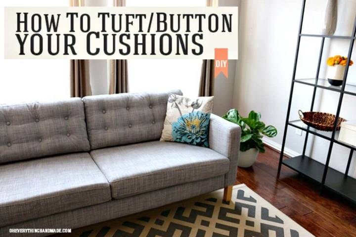 DIY Tuftbutton Your Ikea Karlstad Cushions