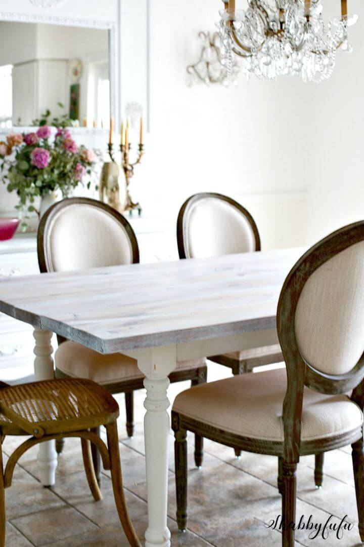 Easy DIY Whitewash A Farmhouse Table In 30 Minutes