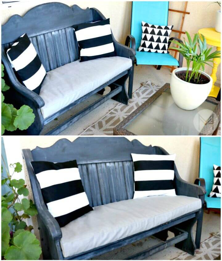 How to Sew a Washable Bench Cushion in 2 hours - DIY
