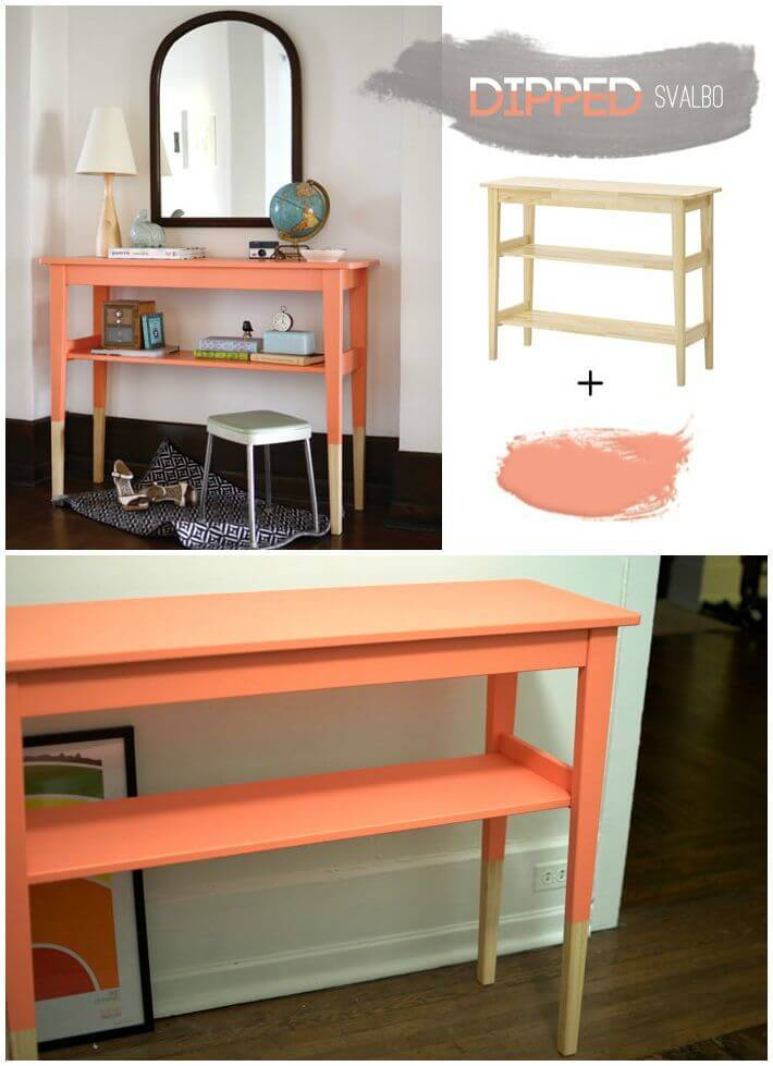 Easy DIY Ikea Dipped Side Table