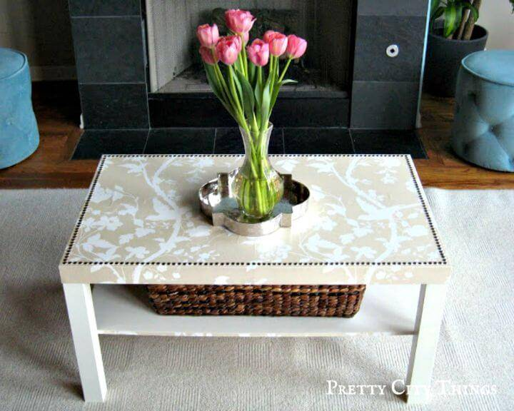 DIY A Lack Hack Coffee Table Makeover - Free Tutorial