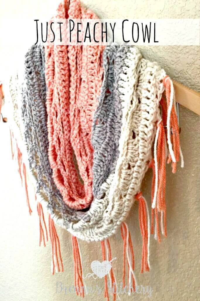 Free Crochet Just Peachy Cowl Pattern