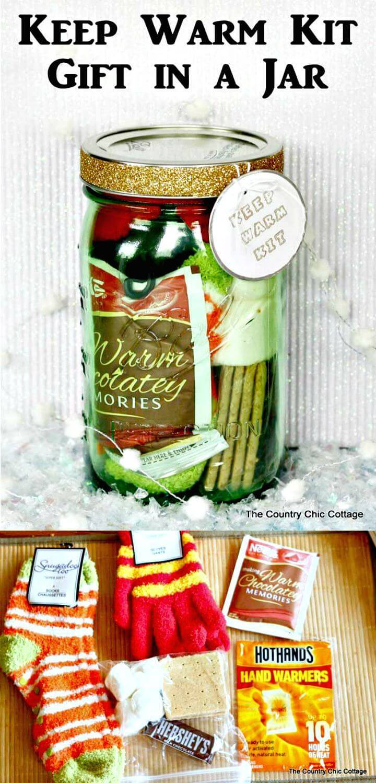 DIY Keep Warm Kit Gift In A Jar