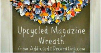 How To Make Lovely Up-cycled Magazine Wreath Tutorial