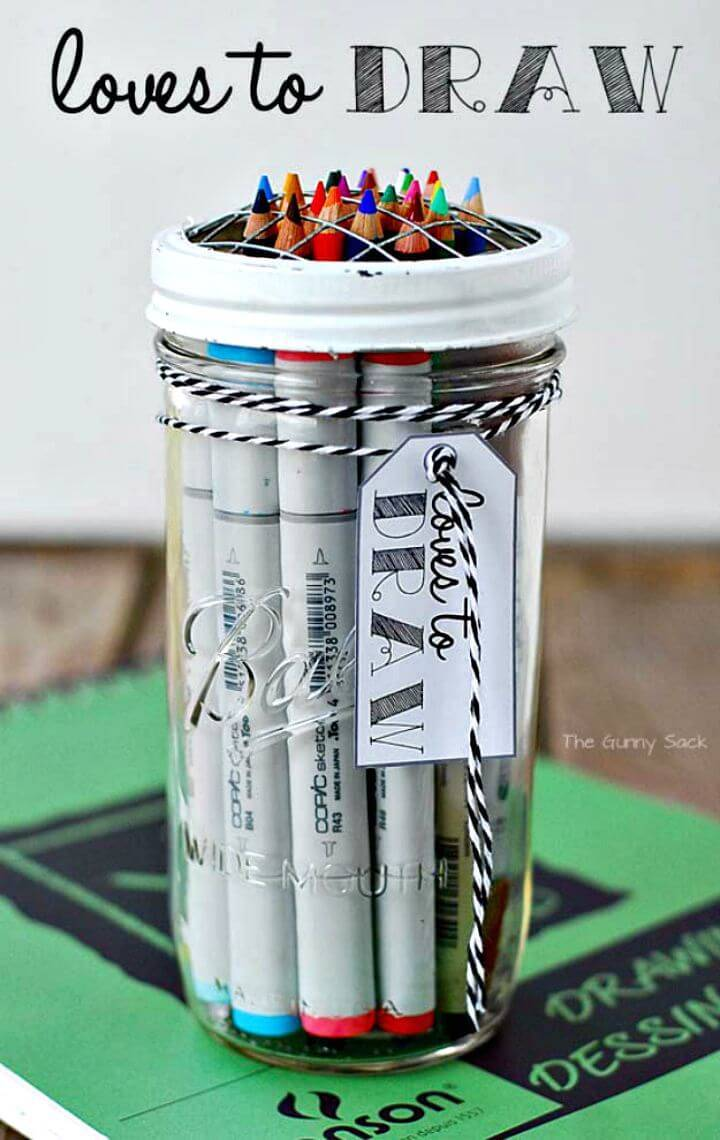 Easy How To Draw Gift In A Jar