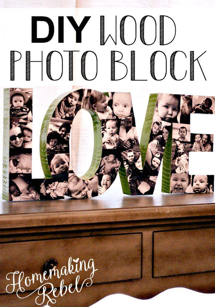 How To Make Your Own Wood Photo Block Tutorial