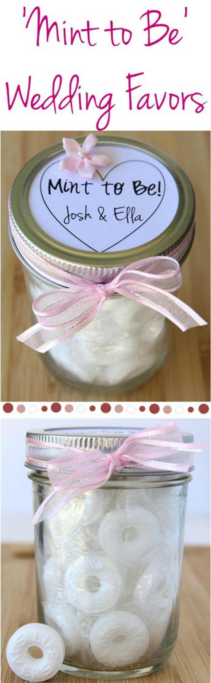 DIY Mint To Be Wedding Favors Gift In A Jar Pattern
