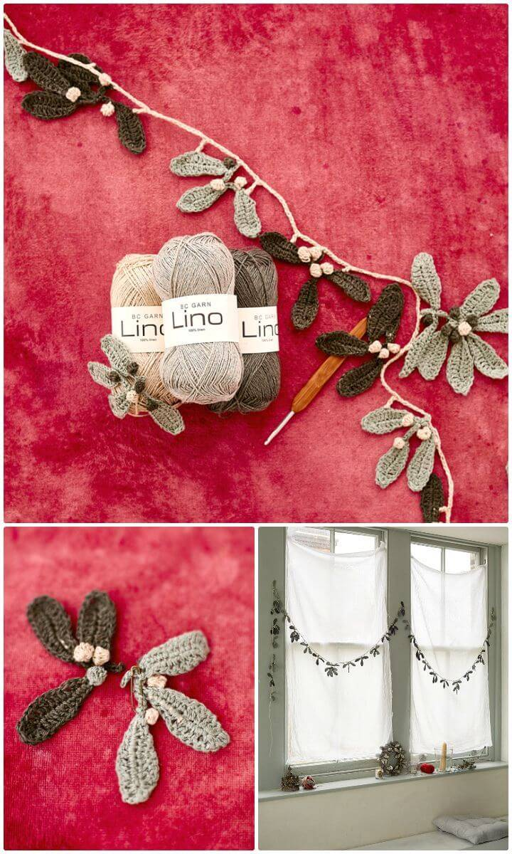 Free Crochet Mistletoe Garland Pattern
