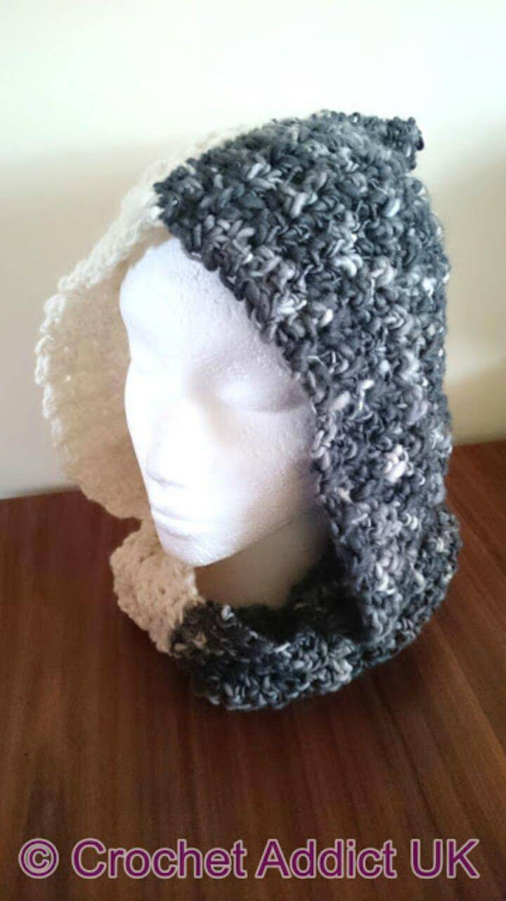 Night & Day Hooded Cowl - Free Crochet Pattern