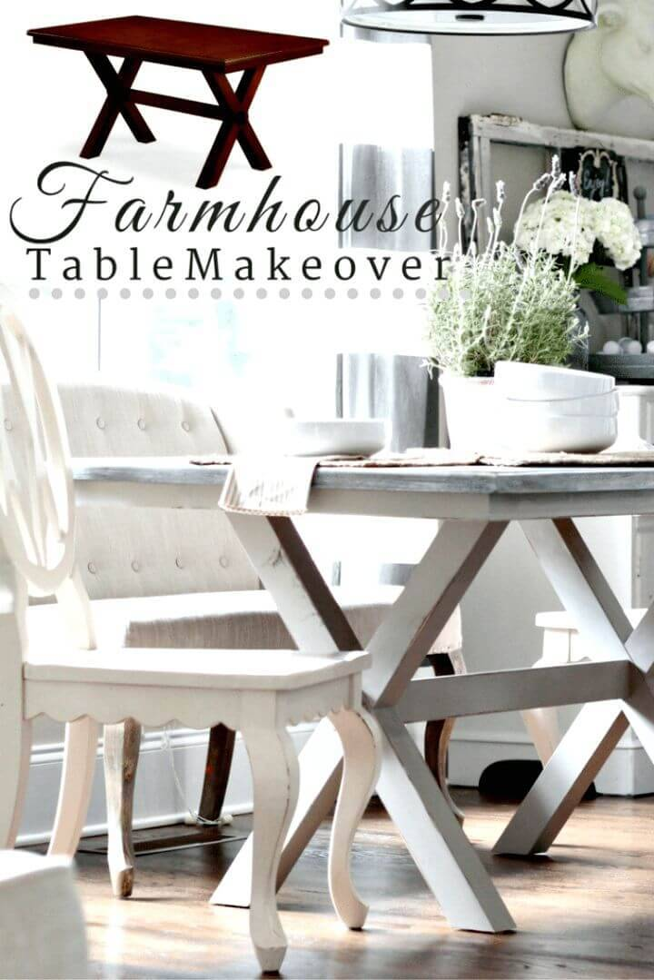 How To Painted Farmhouse Table X-Base