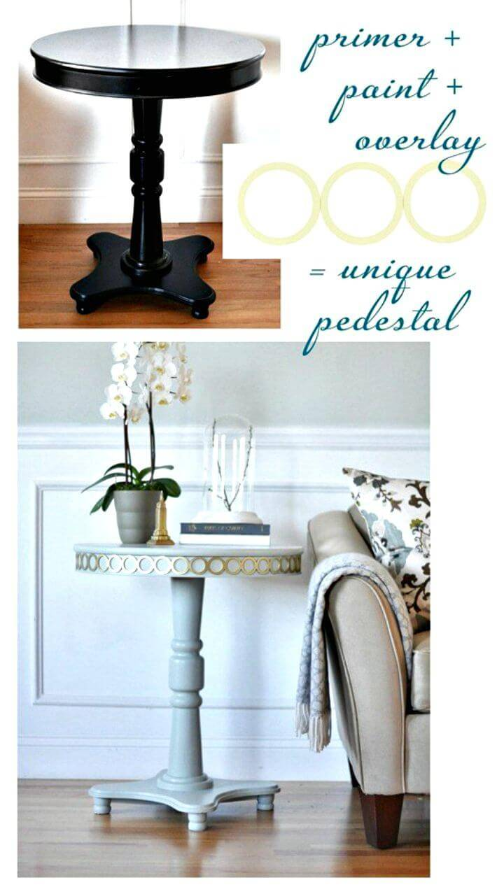 How To Build A Pedestal Table with Overlays