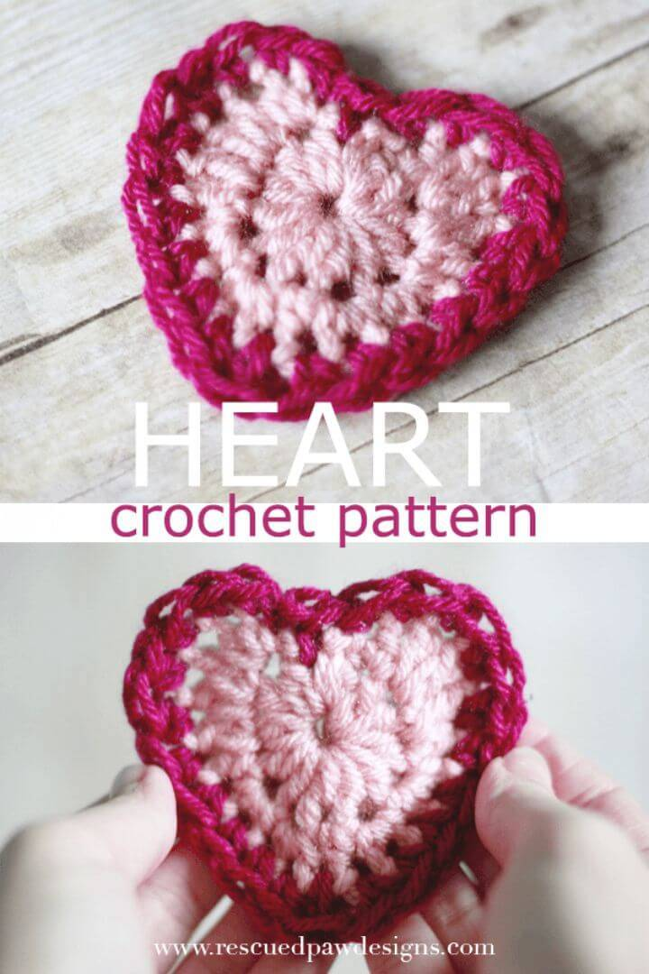 Quick Free Crochet Heart Pattern