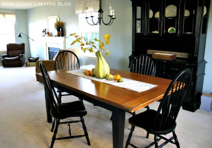 DIY Refinished Dining Room Table - Free Tutorial