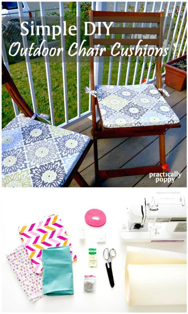 Easy How To Revamp Any Old Chair With These DIY Seat Cushions - Free Tutorial