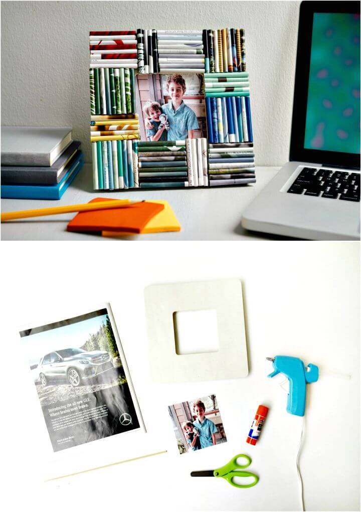 How To DIY Paper Picture Frame