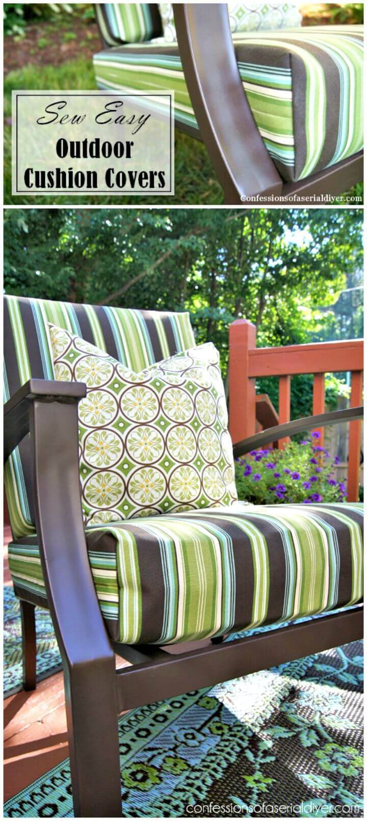 Easy Sew Outdoor Cushion Tutorial
