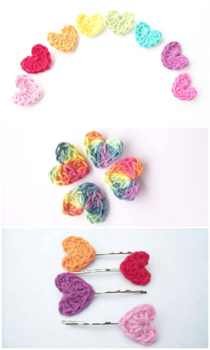 Simple And Cute Free Crochet Heart Pattern