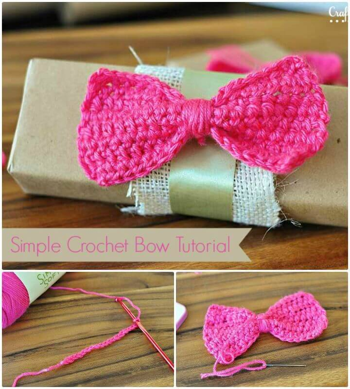 Simple And Easy Crochet Bow Tutorial