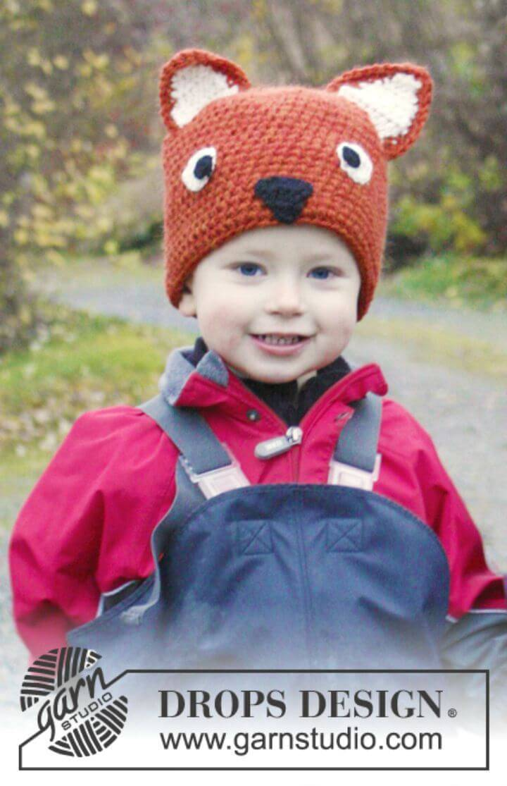 Simple And Easy How To Free Crochet Fox Hat Pattern