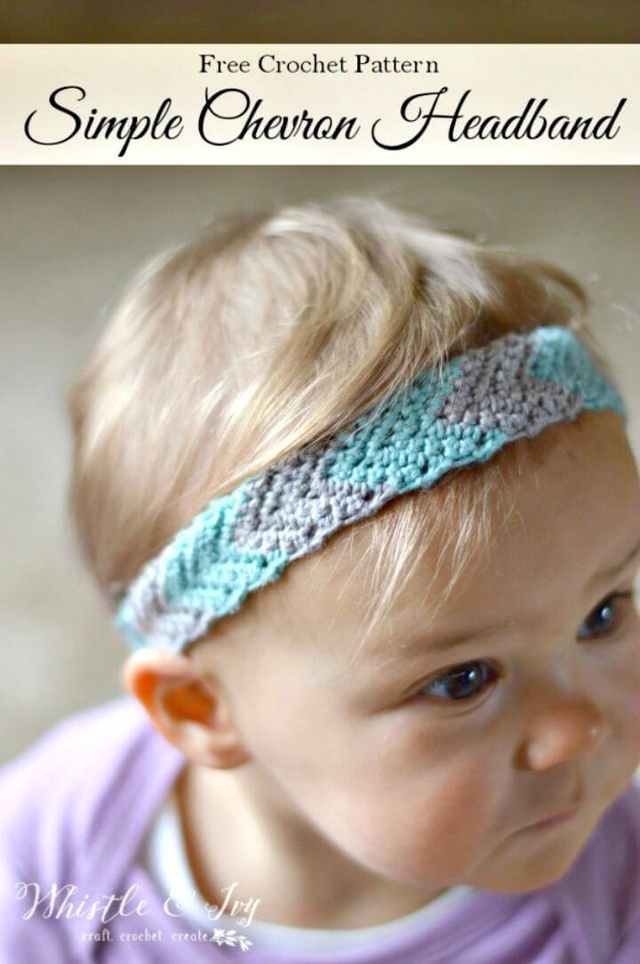 Easy And Simple Free Crochet Chevron Headband Pattern