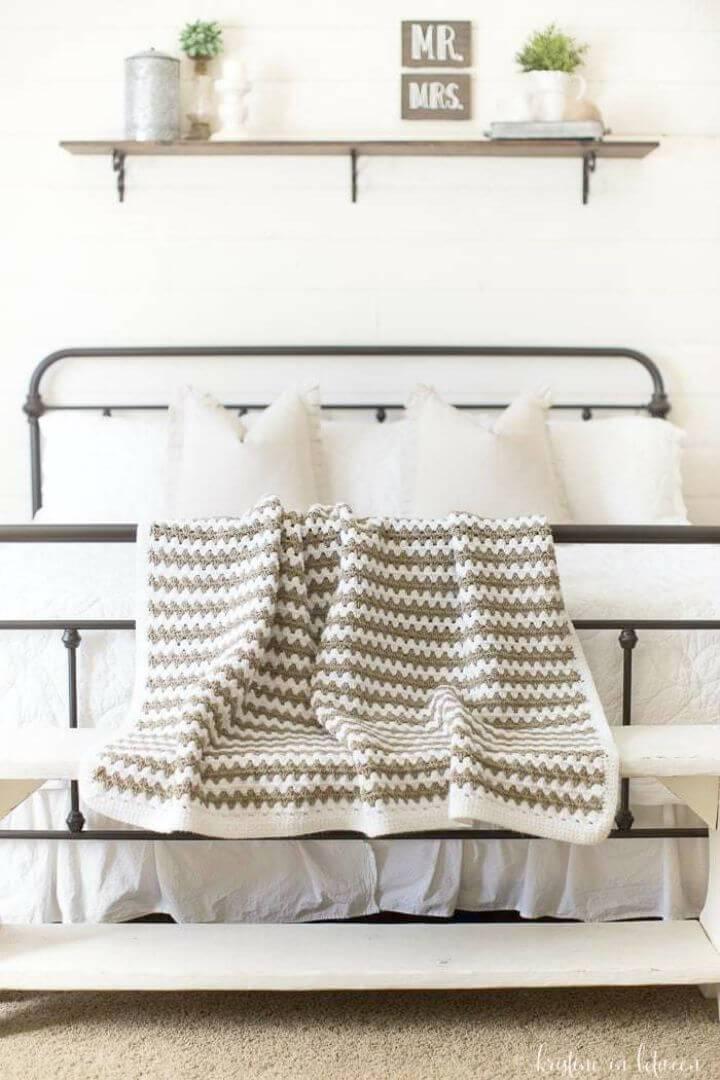 Simple Free Crochet Granny Stripe Afghan Pattern