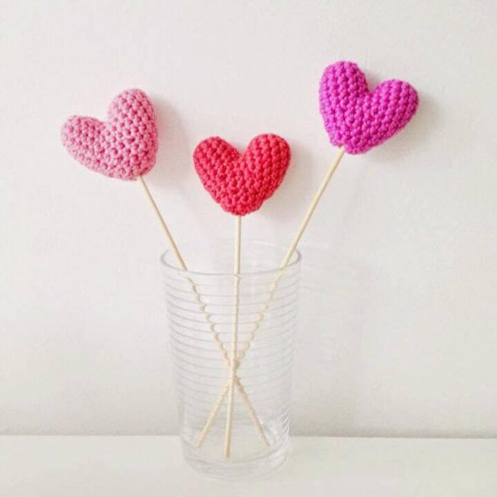 Simple Free Crochet Hearts Pattern