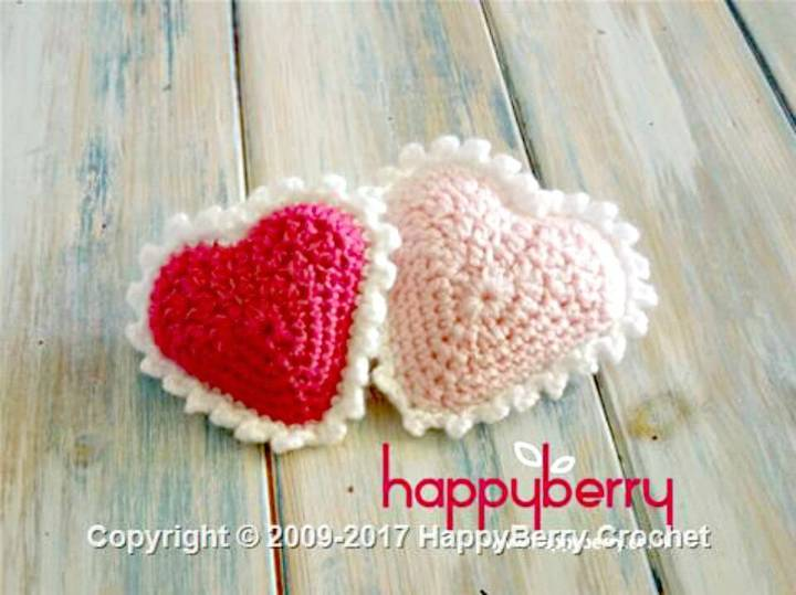 Simple And Easy Free Crochet Padded Heart Pattern