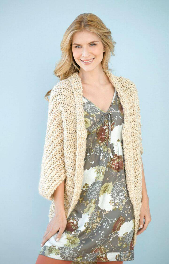 Simple Free Crochet Shrug Pattern