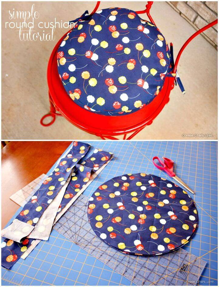 Simple How To Make A Round Cushion - DIY
